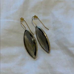 Charcoal stone drop earrings